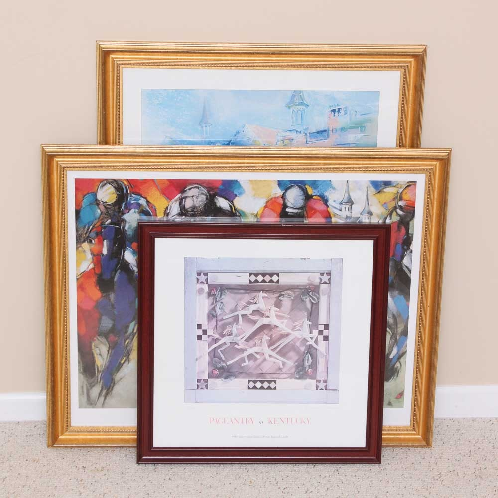 Kentucky Derby Theme Framed Prints