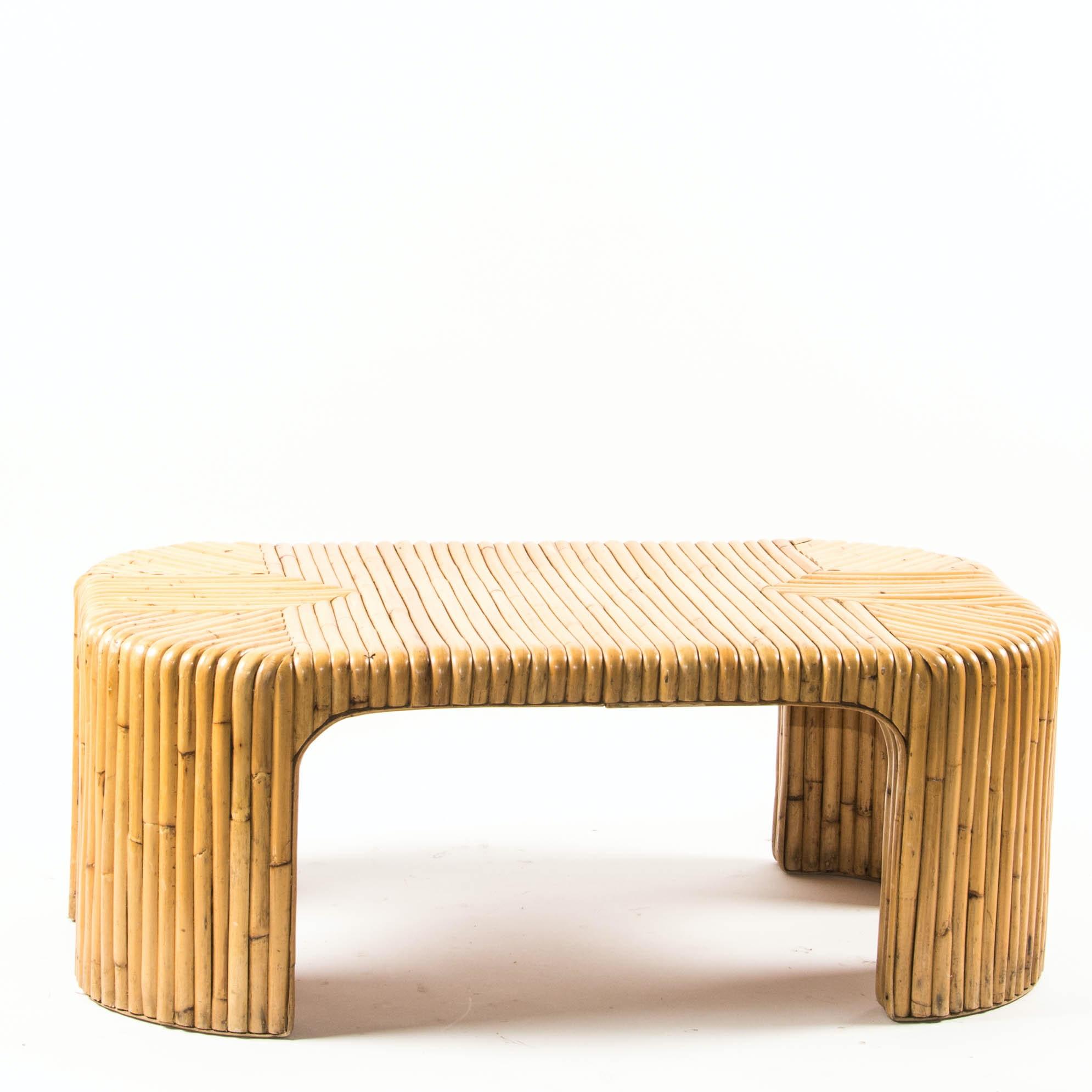 Bamboo Coffee Table Ebth