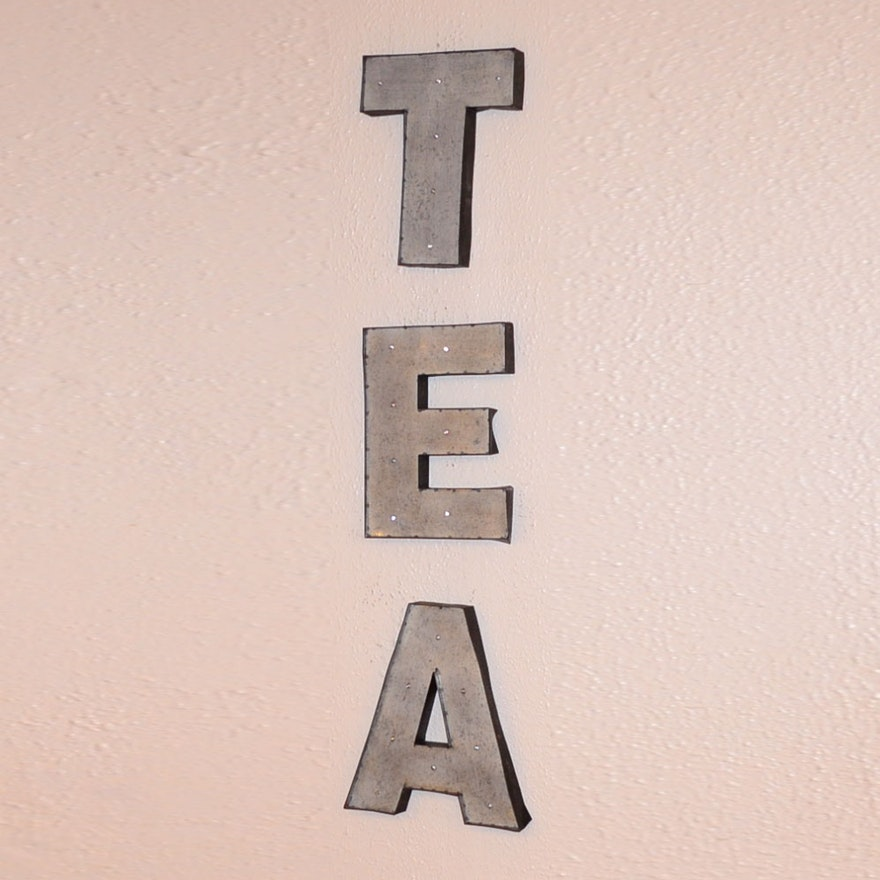 Decorative Aluminum Wall Decor Letters T, E, and A : EBTH
