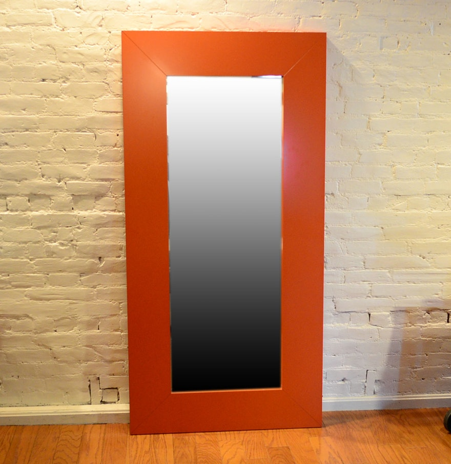 full length red ikea mongstad mirror ebth