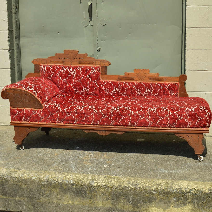Antique Eastlake Fainting Couch Ebth