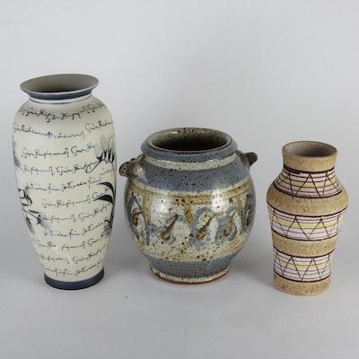Trio of Ceramic Vases