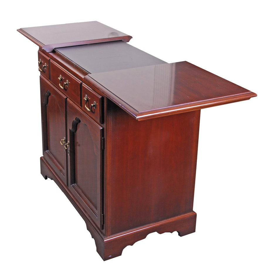 Cherry Bar Cabinet Drexel Cherry Toned Wood Bar Cabinet Ebth