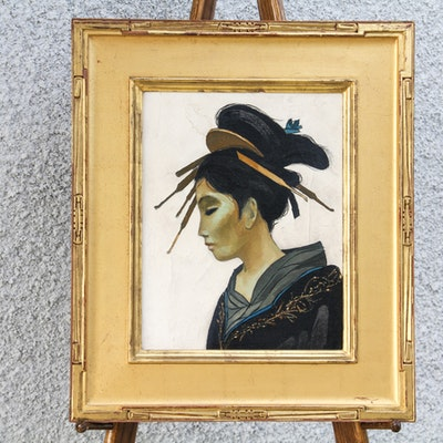 Original Geisha Oil on Canvas Painting