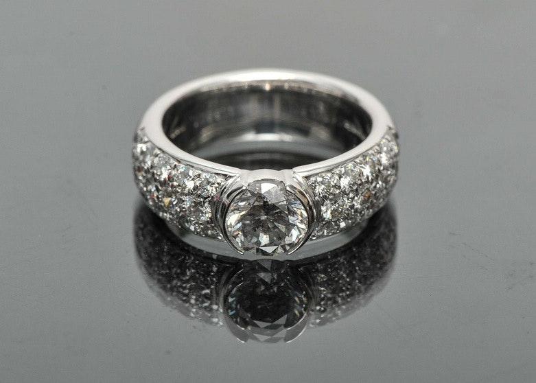 2.73 CT Tiffany & Co. Platinum Diamond Engagement Ring