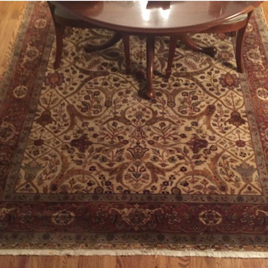Persian Style Wool Area Rug Ebth: Ethan Allen Oriental Style Area Rug