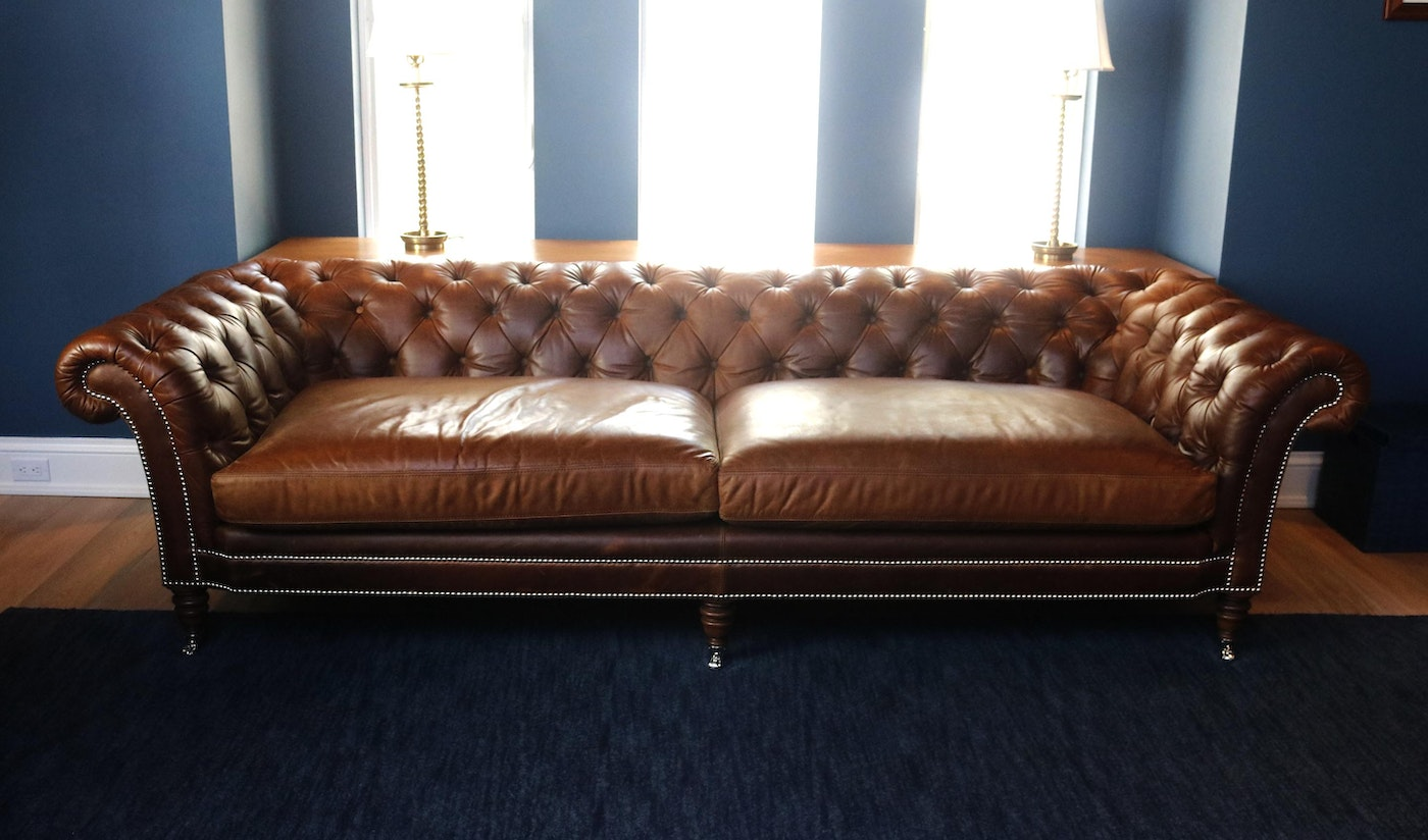 Leather Ralph Lauren Brook Street Sofa Ebth