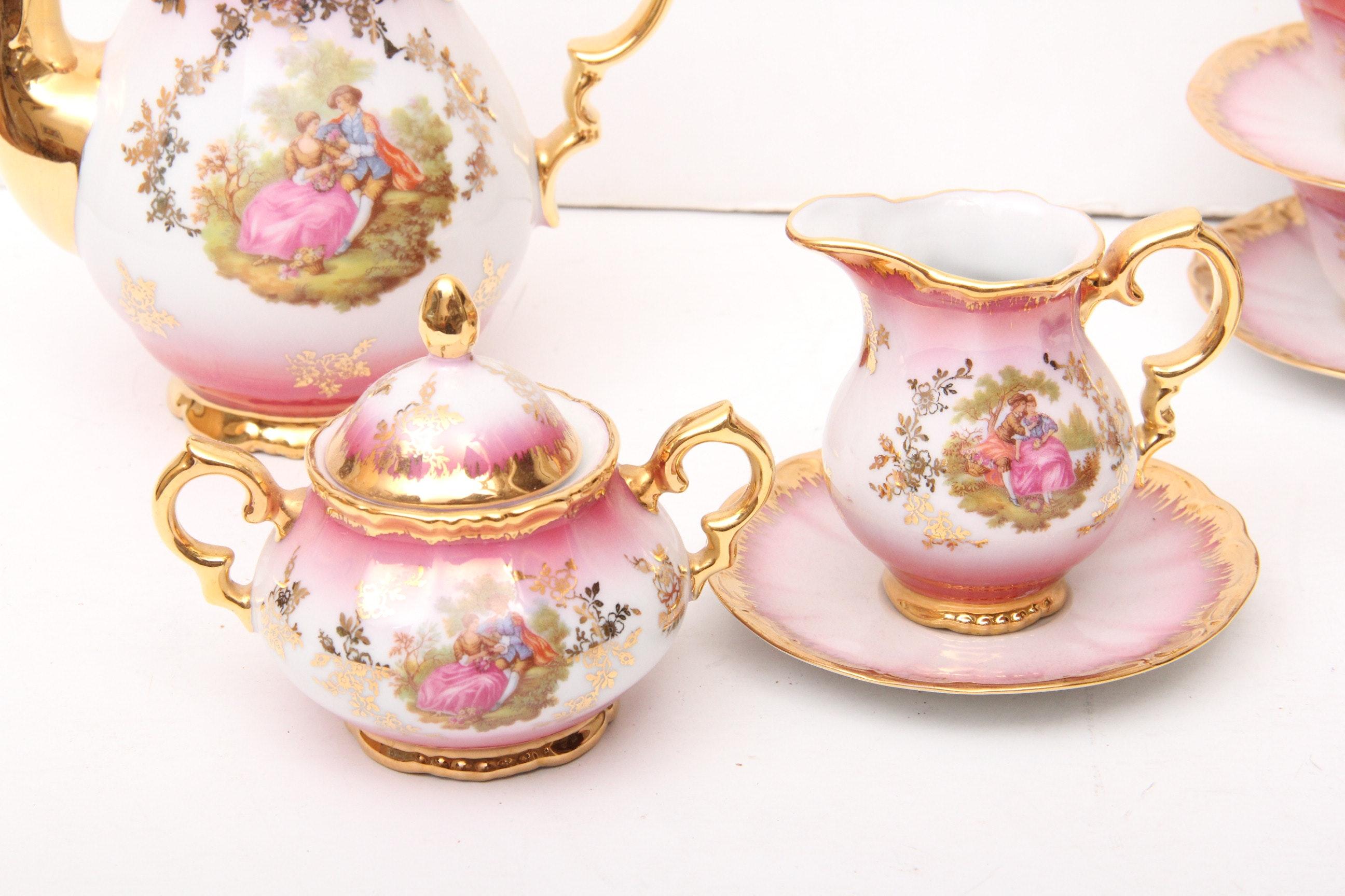 Vintage Ceramic Kleiber Handarbeit Goldauflage Bavaria