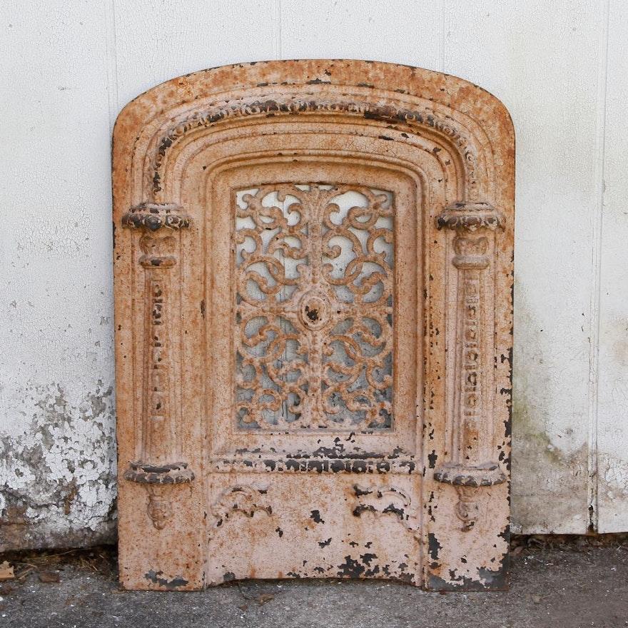 Antique Cast Iron Fireplace Insert Ebth