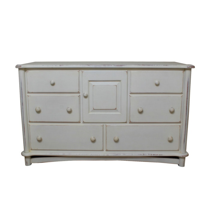 Ragazzi Dresser Changing Table Distressed White ...