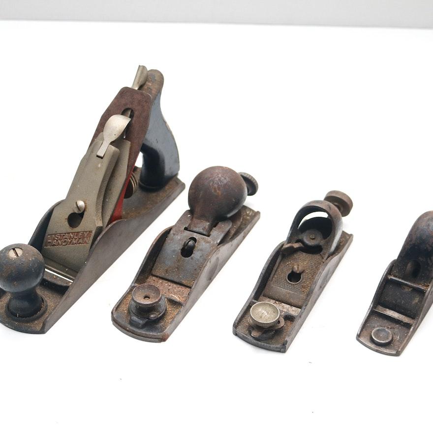 Four Vintage Woodworking Planes Ebth