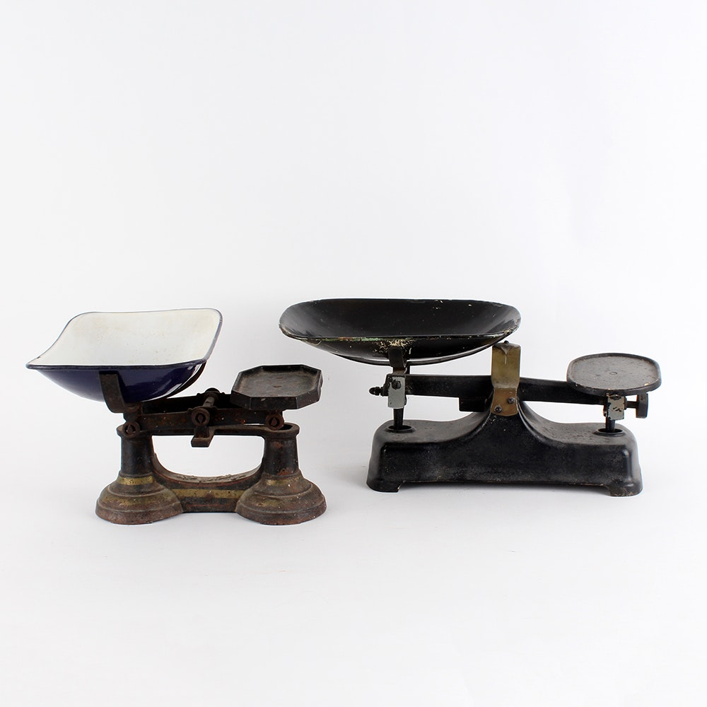 Black Cast Iron Tabletop Scales