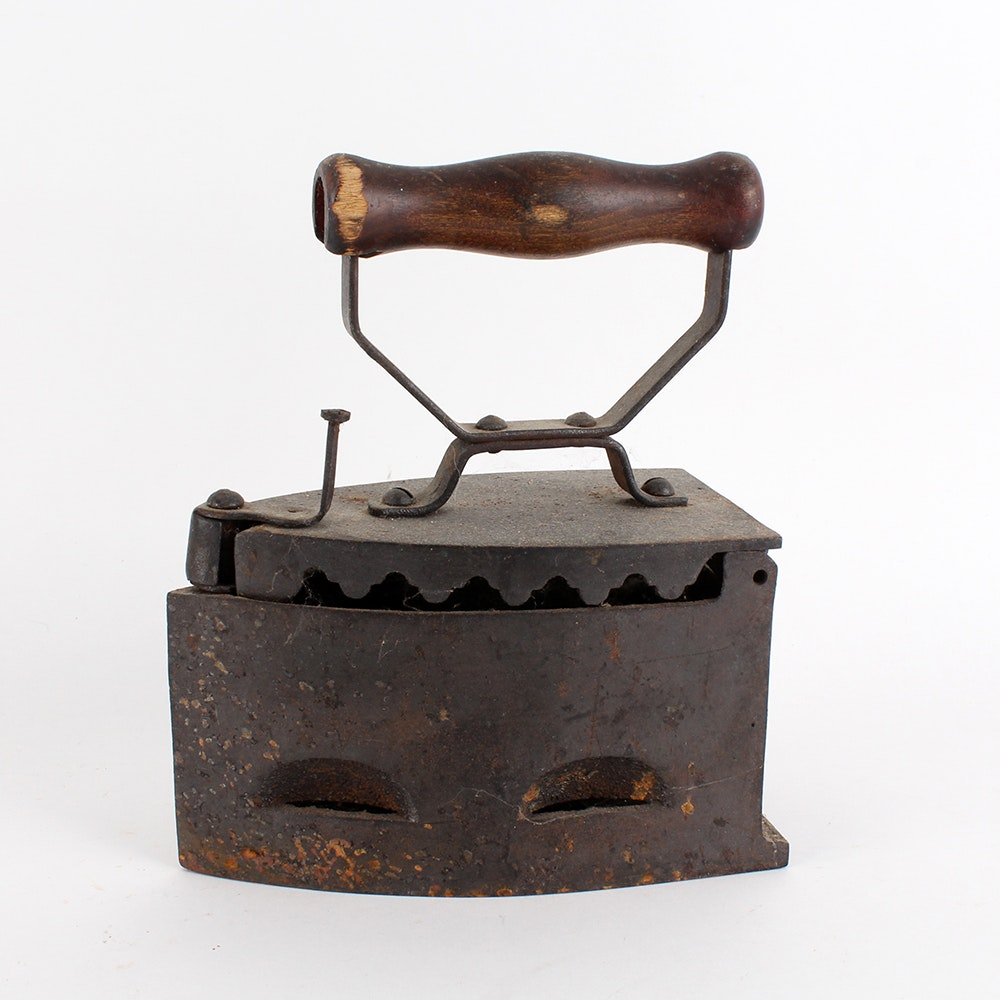 Cast Iron Antique Charcoal Iron