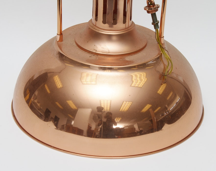 Copper Pendulum Light Fixture EBTH