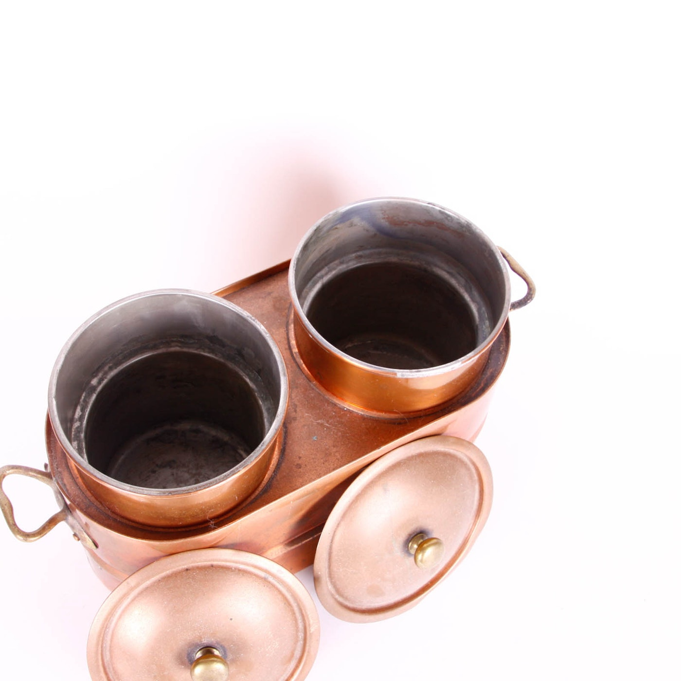 Cooking Warmers Vintage Fireplace ~ Vintage copper double food warmer ebth