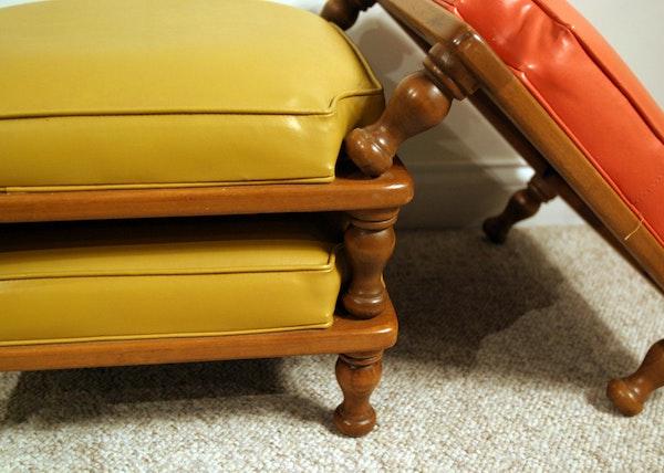 Vintage Ethan Allen Stackable Footstools Ebth