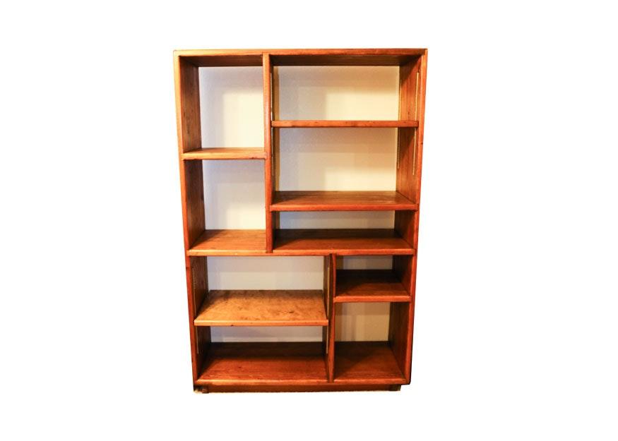Pine Multi-Shelf Bookcase