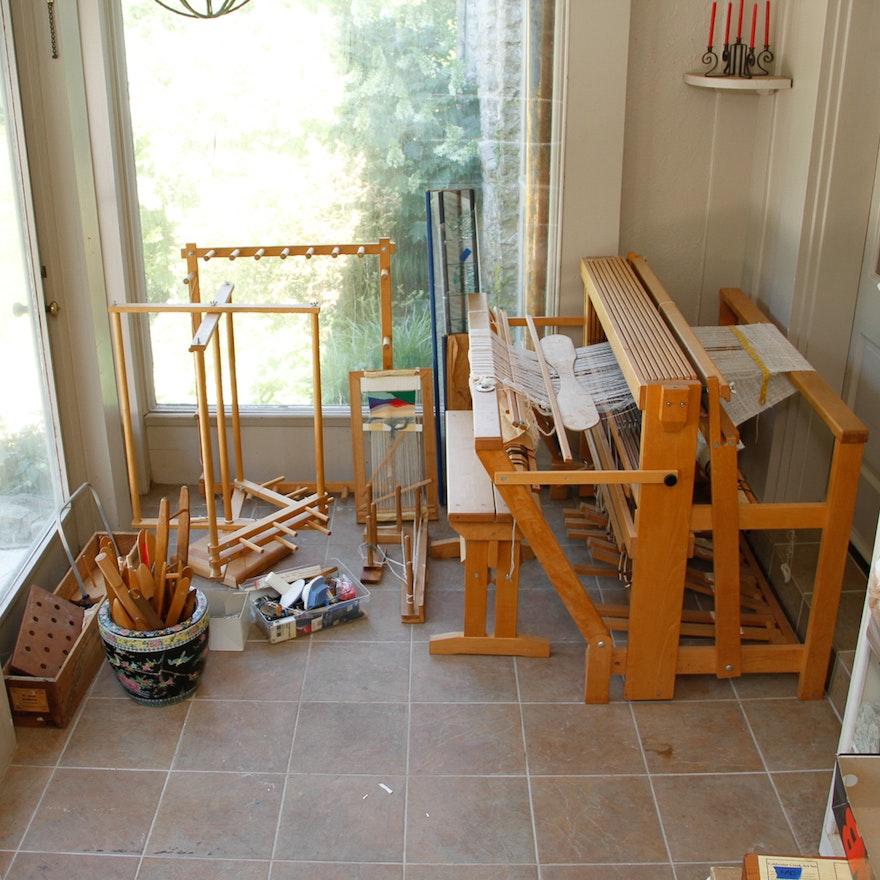 Considerable Schacht Spindle & Co  Standard Floor Weaving Loom