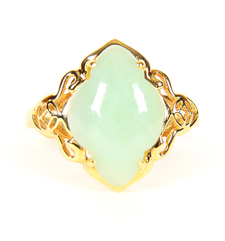 14K Yellow Gold and Jadeite Ring