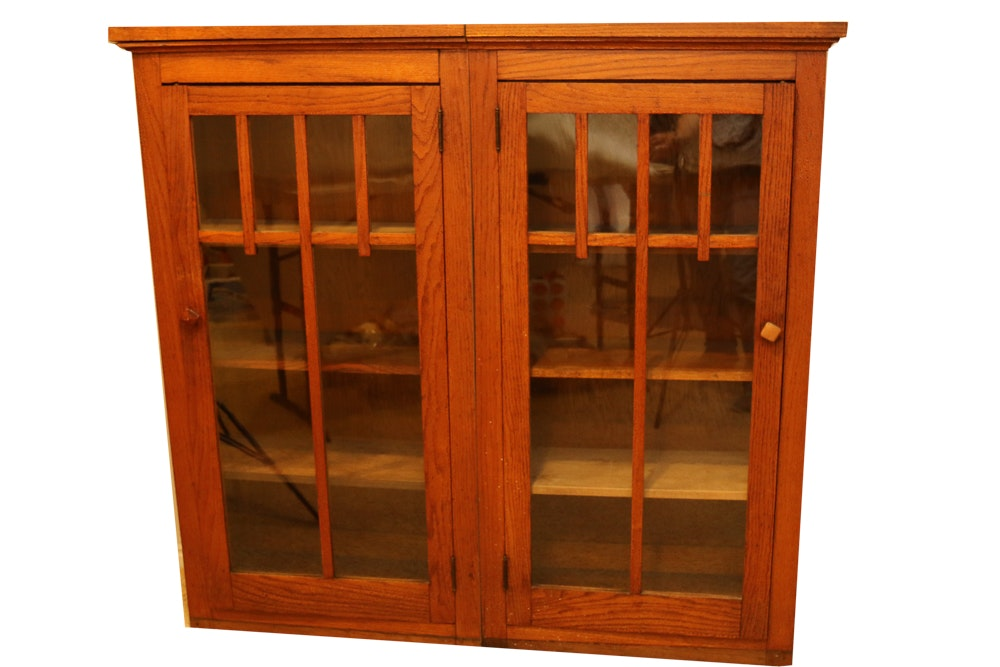 Pair of Left and Right Mission-Style Cabinets