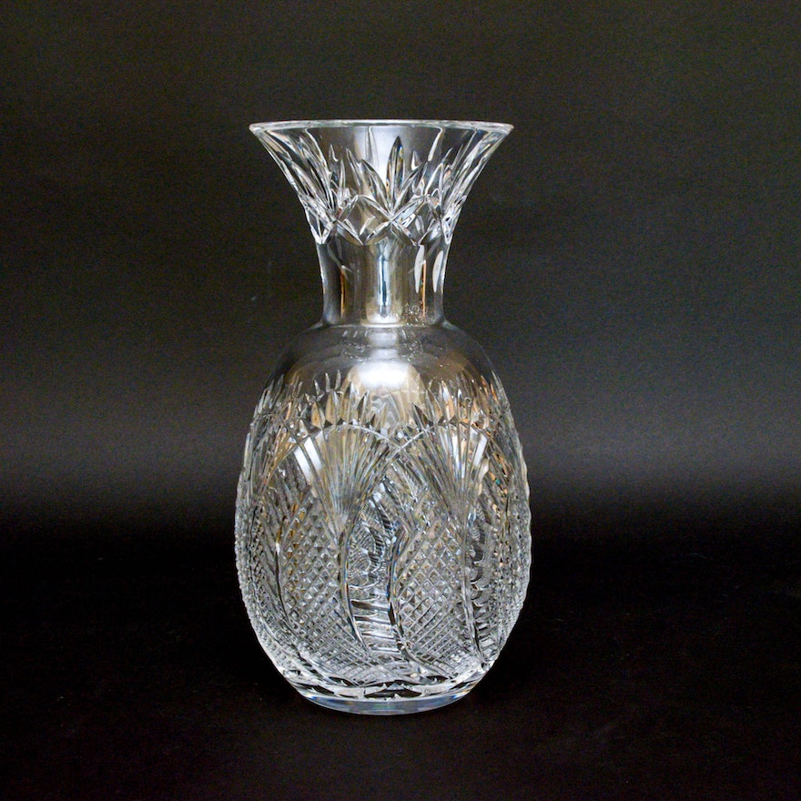 Waterford Crystal Vase In The Seahorse Pattern Ebth