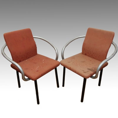 Pair of Ettore Sottsass for Knoll Armchairs