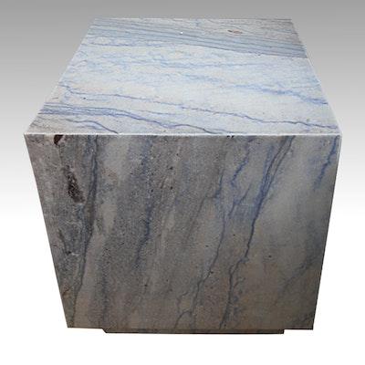 Italian Blue Marble Side Table