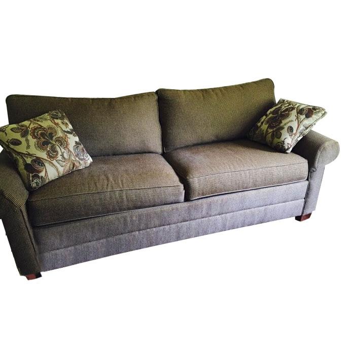 Plaid Sleeper Sofa with Air Mattress and Pump