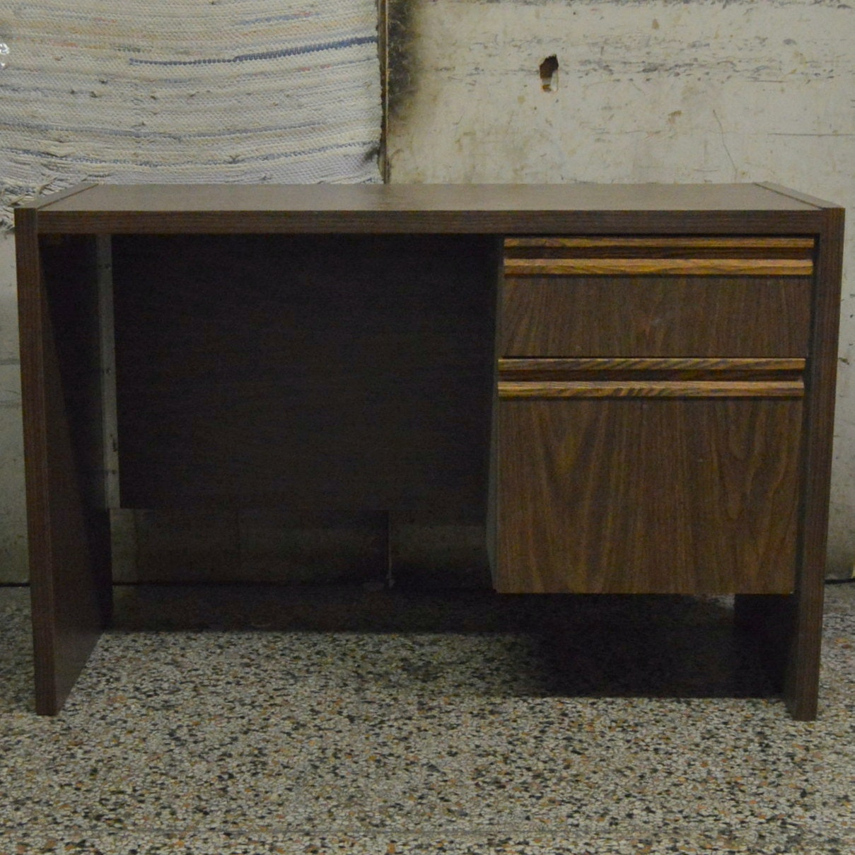 Laminated Walnut-Toned Desk