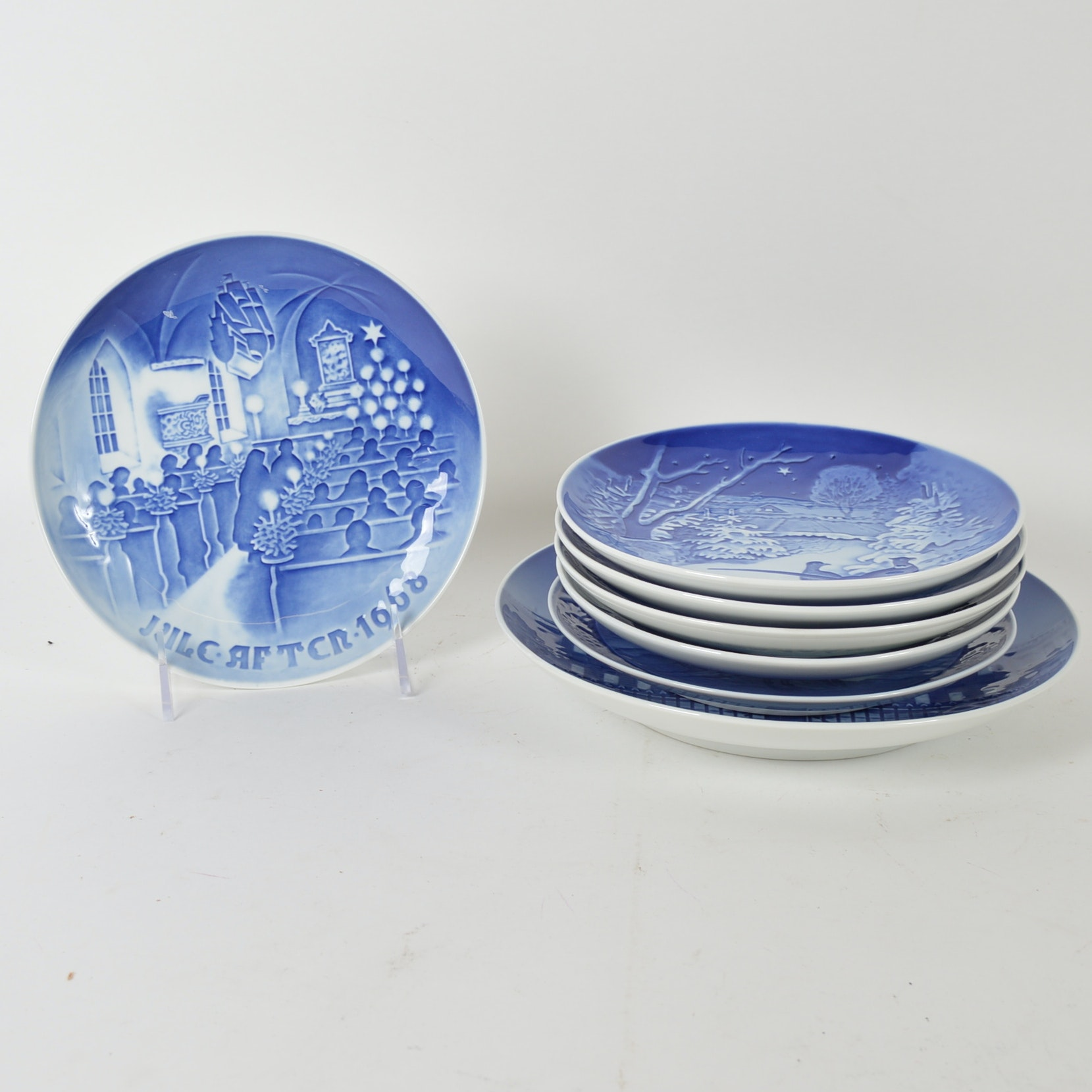 Blue and White Decorative Danish Plates ...  sc 1 st  EBTH.com & Blue and White Decorative Danish Plates : EBTH