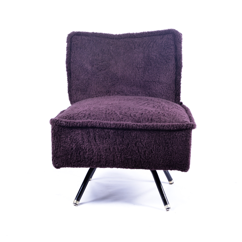 eggplant accent chair purple bedroom furry swivel accent chair in eggplant ebth