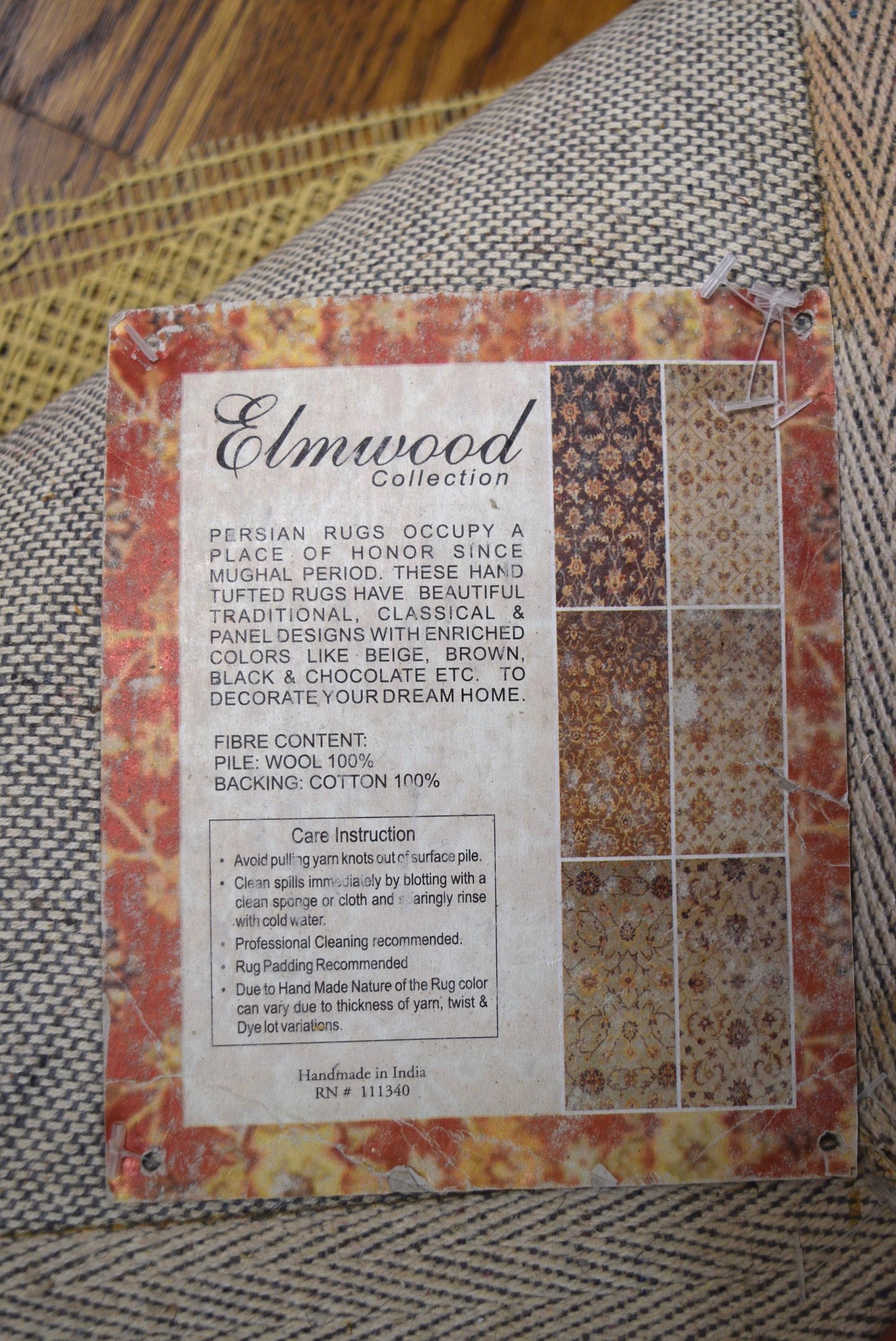 Elmwood Auto Sales >> Handmade Indian Wool Floral Area Rug : EBTH