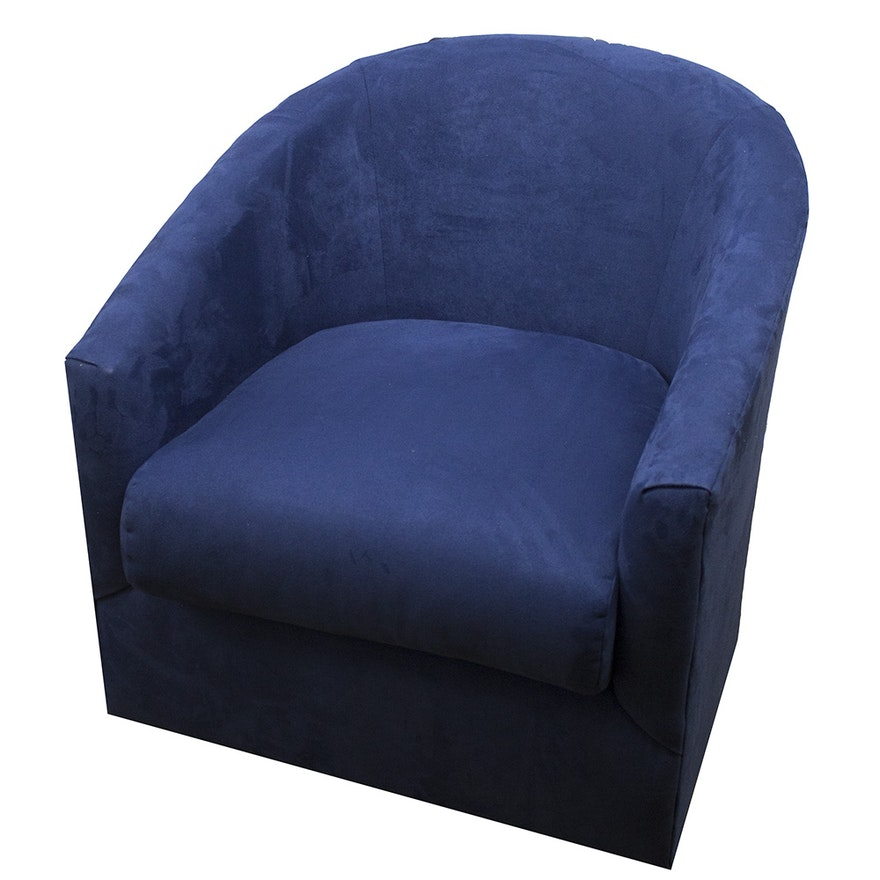 Strange Broyhill Blue Suede Swivel Chair Pdpeps Interior Chair Design Pdpepsorg