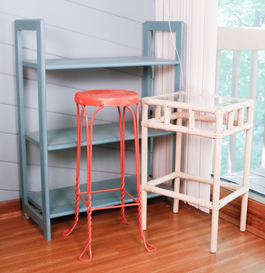 bookshelf plant stand and side table ebth