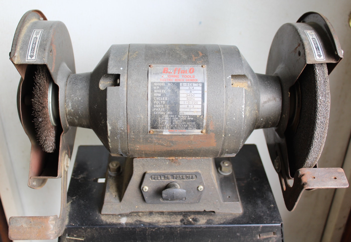 Buffalo Electric Bench Grinder With 8 Quot Wheel And Stand Ebth