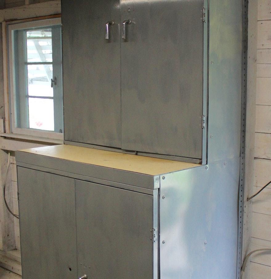 Pair Of Metal Storage Cabinets EBTH