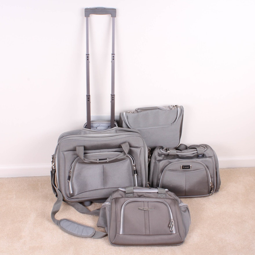 1c85389fc6cb Four-Piece Delsey Luggage Set   EBTH