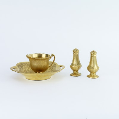 """Pickard Gold Encrusted """"Rose and Daisy"""" Tableware"""