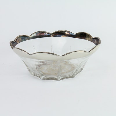 Georges Briard Silver Edged Glass Bowl