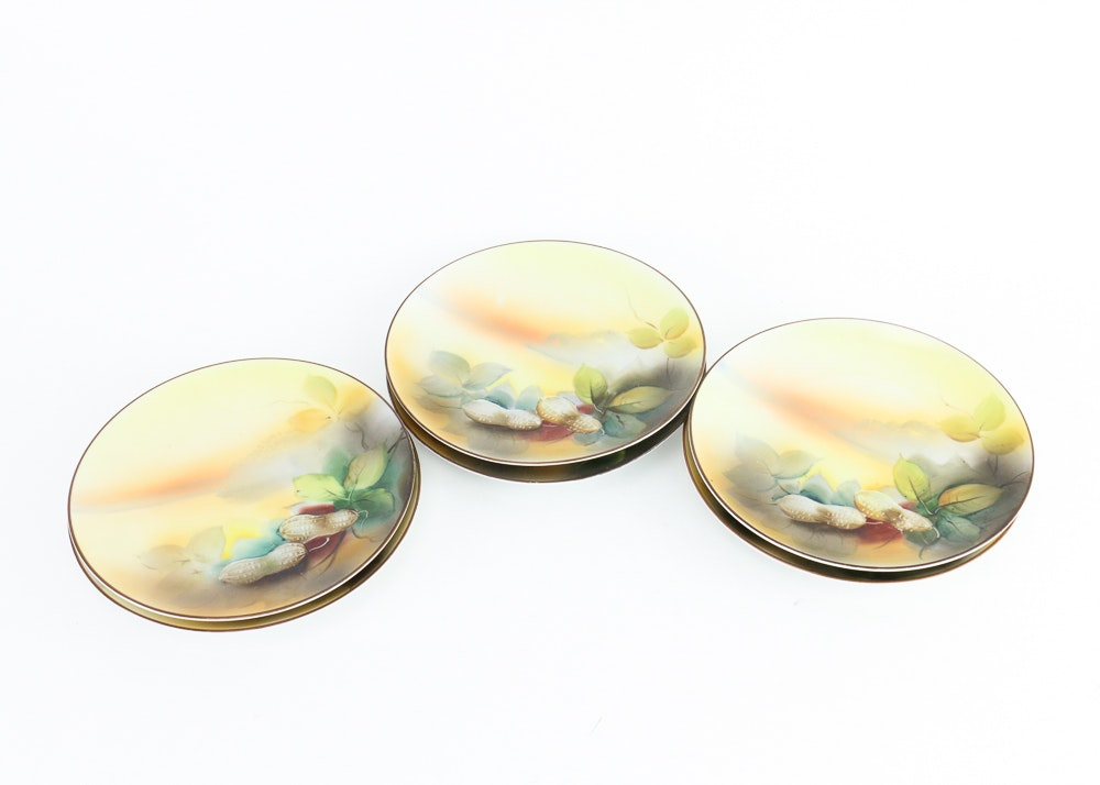 Set of Noritake Hand-Painted Japanese Porcelain Plates