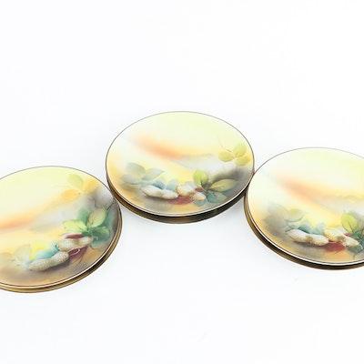 Set of Noritake Hand-Painted Japanese Porcelain Plates