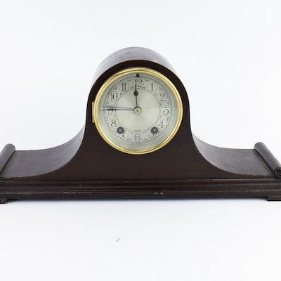 Vintage Herschede Wood Mantel Clock Circa 1915