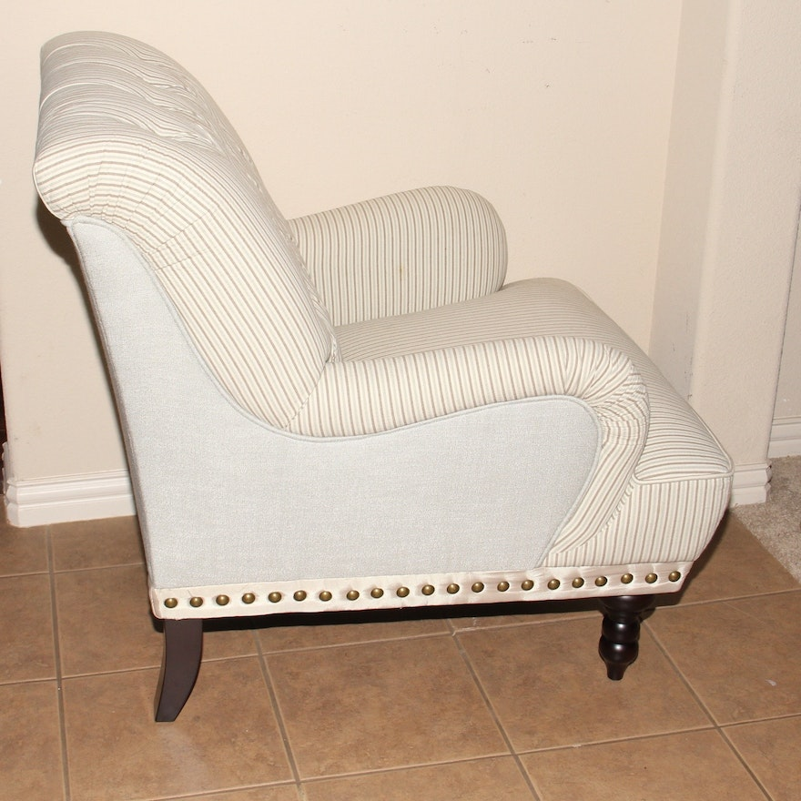 "Pier 1 Imports ""Chas"" Seersucker Armchair and Matching ..."