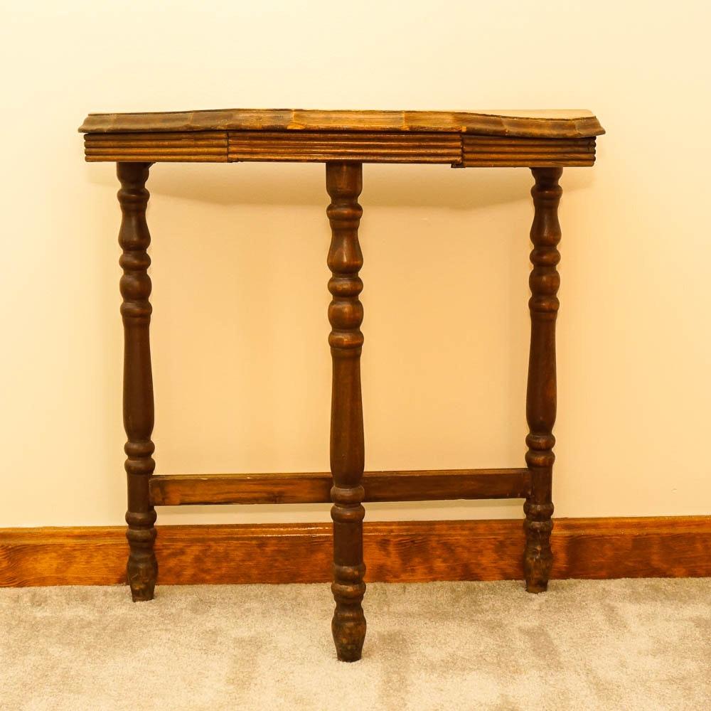 Antique Half Moon Accent Table Ebth