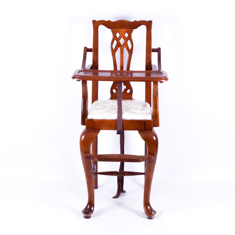 Queen Anne Style Mahogany High Chair ...