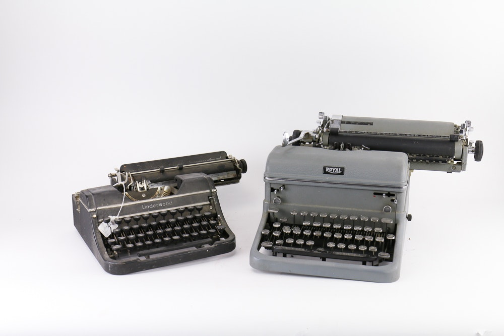 Pair of Vintage Typewriters