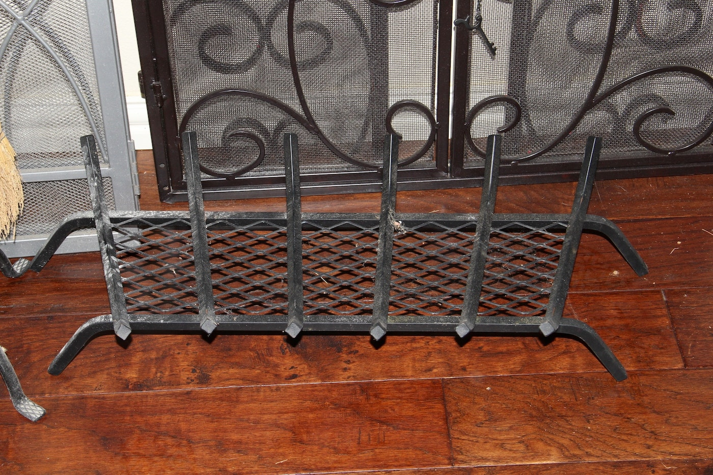 Collection Of Fireplace Screens Tool Set And Log Holder Ebth