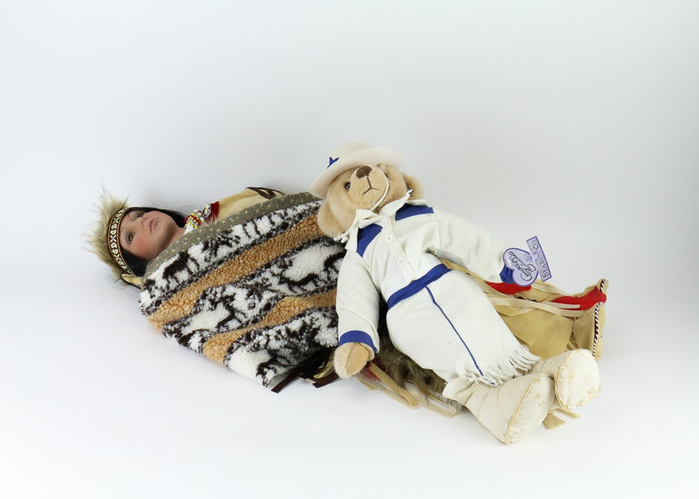Pair of Western-Themed Dolls