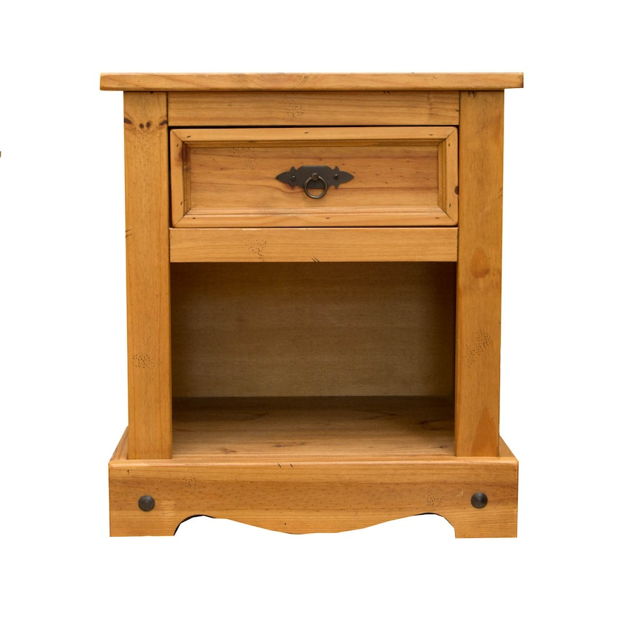 Pier 1 Imports Pine Side Table