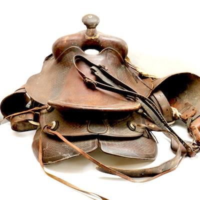 Vintage Roping Saddle from Powder River - Denver Dry Goods